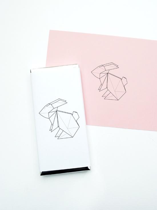 origami bunny wrapper